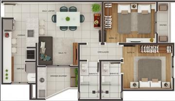 Sao Carlos Centro Apartamento Venda R$380.000,00 Condominio R$212,00 2 Dormitorios 1 Vaga Area construida 72.00m2