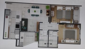 Sao Carlos Centro Apartamento Venda R$450.000,00 Condominio R$212,00 2 Dormitorios 1 Vaga Area do terreno 7.20m2